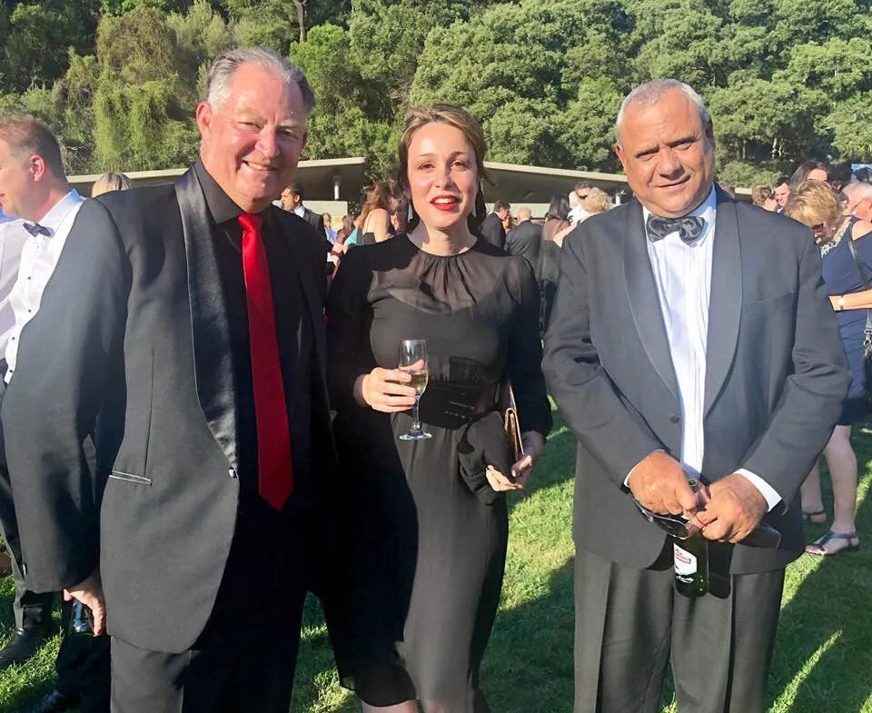 Nitmiluk Tours chief operations officer Sveva Faletta and Jawoyn Association chief executive officer John Berto at the awards welcome reception